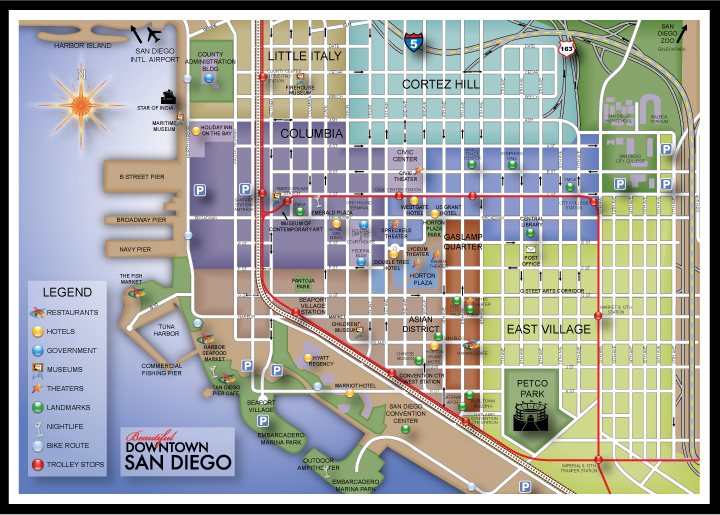San Diego Map Of Hotels